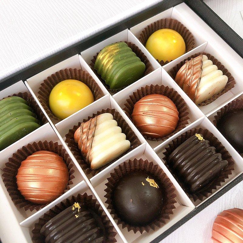 情人節 酒香巧克力禮盒12顆裝