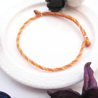 大员囡仔[Handmade] Sunshine × Wax rope bracelet Yellow orange wax line yellow orange