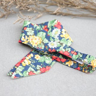 Island tropical flowers / red, green, yellow, blue / thin section elastic hair band strap hand-_Tropical Garden // Taiwan handmade elastic hairband