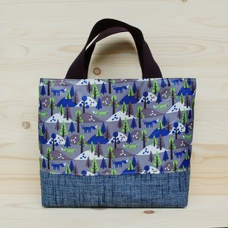Nylon waterproof tote bag _ forest fox gray