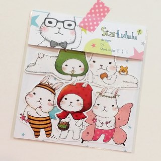 Waterproof Sticker / Meng Meng White Rabbit / Group 5 (5 in)