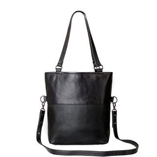WASTELAND Shoulder Bag_Black / Black Leather