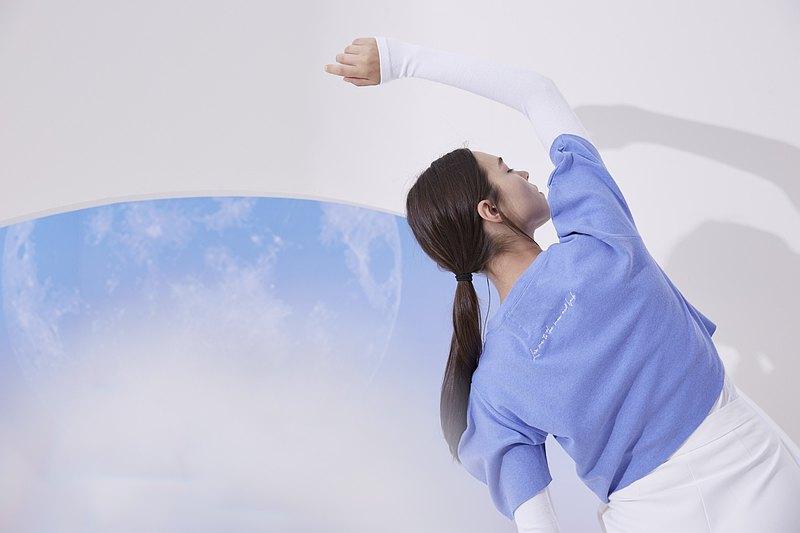 短版上衣 弧形衣袖 _ All Star : 粉嫩紫