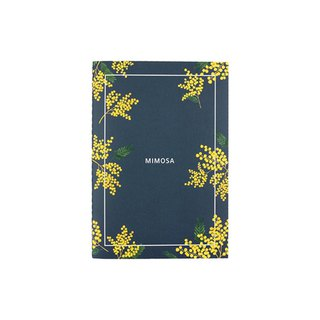 Flower bloom horizontal line notebook M size 05. mimosa
