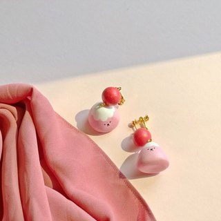 Miss Fuji Mt. Ears/Ear clips - Pink Fuji