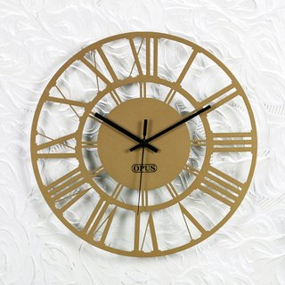 [OPUS Dong Qi Metalworking] European Iron Clock - Roman numerals (bronze gold) / mute wall clock