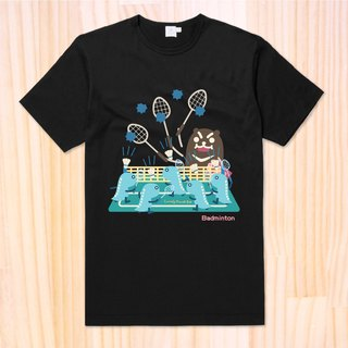 Lonely Planet Sports Sweat Fir - Domineering Bear - PTT Badminton Dropout Edition - Customized Cannot Return
