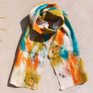 Wool felt scarves / wet felt scarves / watercolor art scarf / wool gradient scarves - blue sky