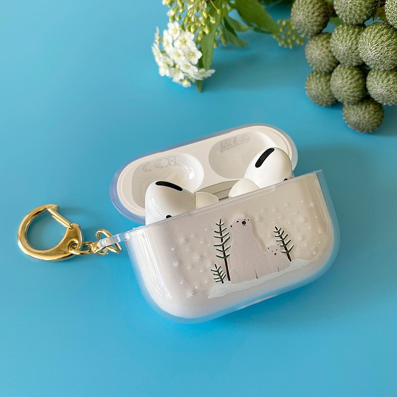 AirPods Pro和AirPods保護套-White Bear Parents-