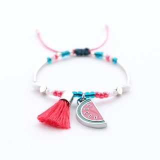 Watermelon red tassel sting bracelet