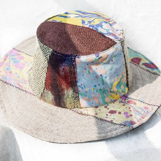 South American wind hand woven cotton and wool cap knit hat fisherman hat sun hat straw hat - ocean travel hat