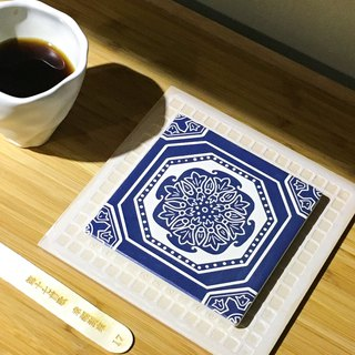 Taiwan Majolica Absorbent Tiles Coaster【Good fortune has arrived】
