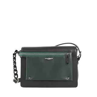 Pocket bow series shoulder bag - dark green black X