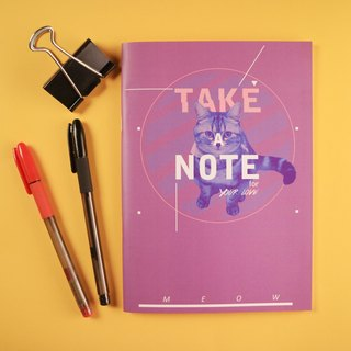 Deerhorn design / antlers MEOW cat purple notebook in your life