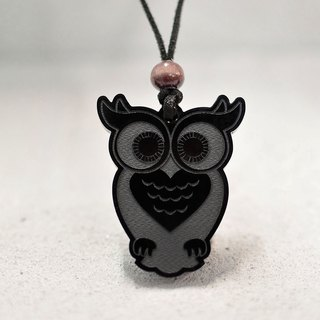 Owl - Acrylic Necklace - Black Personality - Animals - Gifts - BU