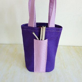 Violet plain environmental protection universal canvas bag ice tyrant cup bag Mason bag