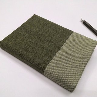 Exquisite A6 cloth book clothing ~ dark green (unique goods) B04-049