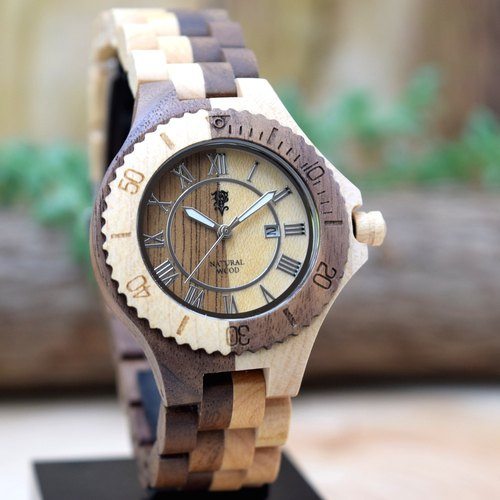 EINBAND Meer Walnut & Maple 36mm Wooden Watch
