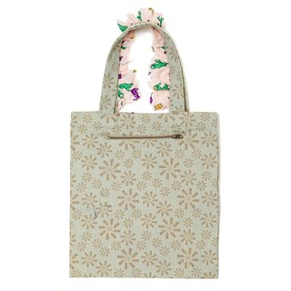 Myogi Floral Frilly Tote