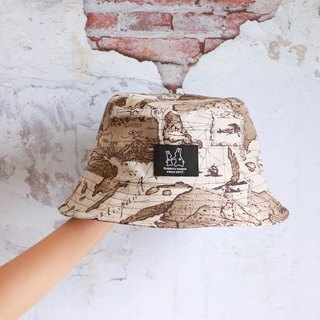 Map styling fisherman hat