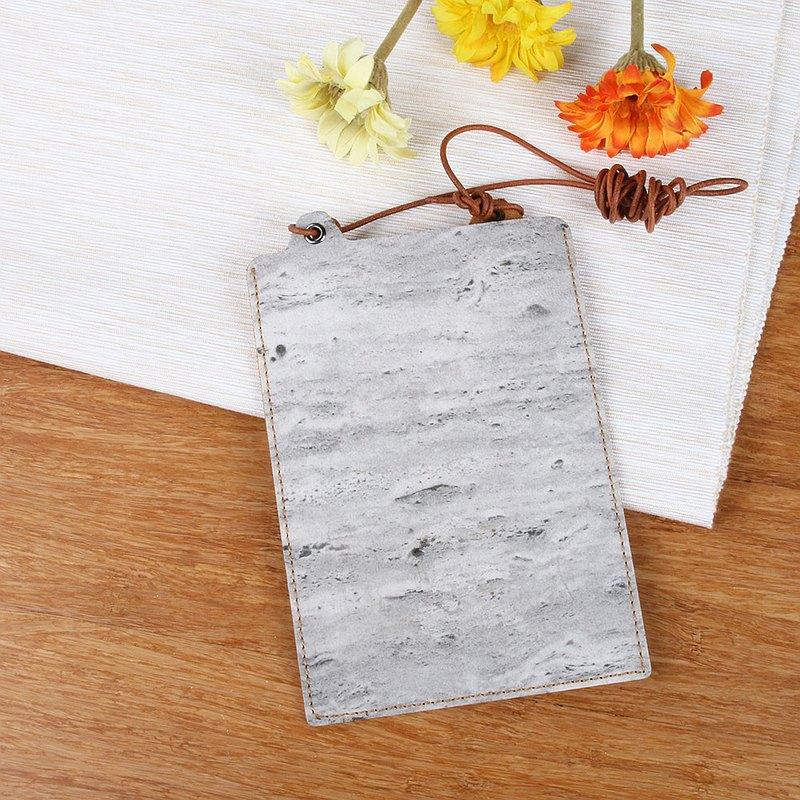 【石紋】植鞣皮白大理石手機袋
