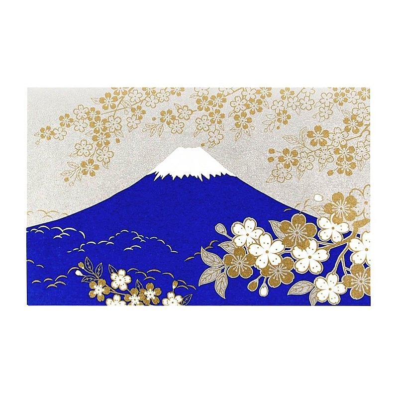 燙金櫻花富士山高級和紙【Hallmark-卡片 經典和風/多用途】