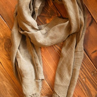 【Grooving the beats】[ Fair Trade] Organic Cotton, Hand woven, Natual Dye Shawl / Scarf(Green)