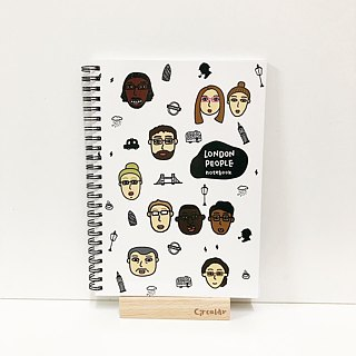 Round face people - London people London people / blank notebook