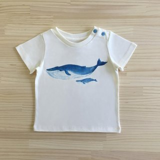 Gujui Love Whale - Organic Cotton Short Sleeve Top - Beige