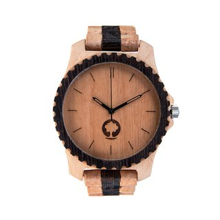Plantwear – URBAN SERIES – WHITE & BLACK EDITION WOOD TIMBER WRIST WATCH