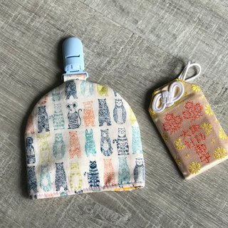 Hand-made bell-shaped peace symbol bag Japanese cloth mosquito brick can be set for picking paragraph embroidered word palm