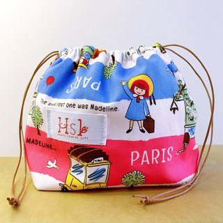 【DIY material package】 teaching kit Lunch box bag rope bag Drawstring Shouwan Dai pocket hand-stitched France wind little girl