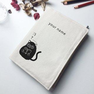 Meow reading week canvas hand account / book clothing / hand opening school essential