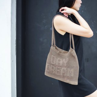 "Crochet Quote Tote Bag | ""Day Dream"" in Stardust"