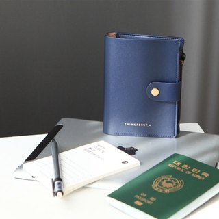 Zipper passport wallet_Navy