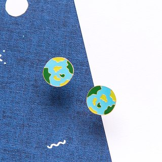 Earth hand made earrings Little OH! x sweet secret joint