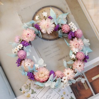 Unfinished | Pink Blue Purple Garden Dry Flower Wreaths Props Props Wall Decorations Gifts Gifts Gifts Layout Office Small Objects Hydrangea Home Spot