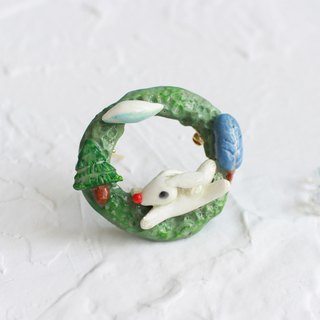 Rabbit Handmade Brooch I Story_Forest daily