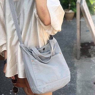 New Light Grey Little Canvas Tote / Weekend bag / Shopping bag