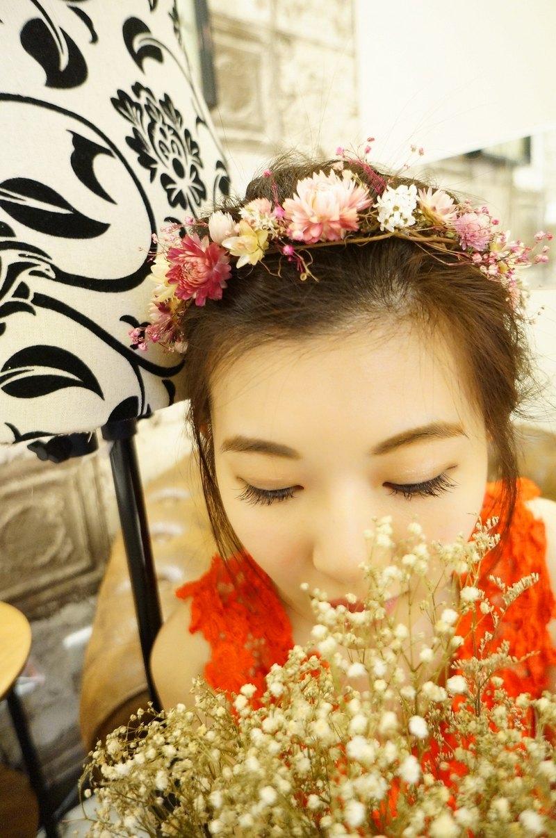 Amor Floral Lovers Dry Corolla Wreath Wreath Flower Girl Dry