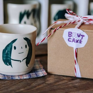 Brut Cake Handmade pottery - smiling mug 280ml-20 (12/31/2016 before buying comes Kofu coaster a)