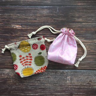 Pink Kitchen - Double Side Storage Drawstring Pocket - Small