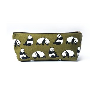 Pencil Case Panda Dark Olive