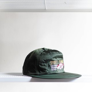 River Hill - Shizuoka line army green mountains and rivers secluded quiet day seven antique cut flat top Benn baseball cap peaked cap / baseball cap