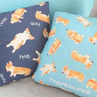 Dog print double sided cushion cover/animal cute toy/ Welsh Corgi/Corgi Plush