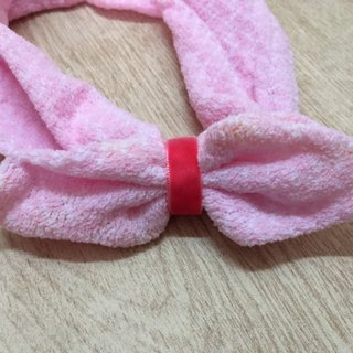 Rabbit ear hair band pink egg Easter Egg paragraph