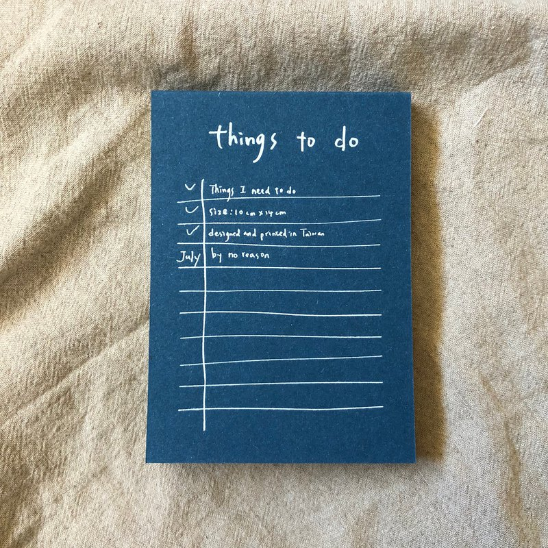 Things to do note paper