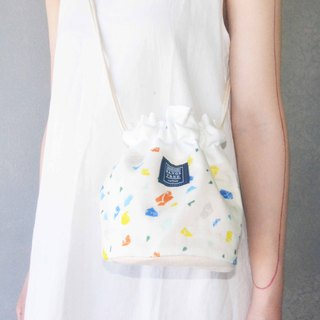 Side bucket bag _ small color block