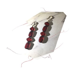 Magic Stone Red Moon Earrings