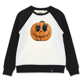 AMO Original cotton adult Sweater /AKE/ The black cats hide in the Pumpkin Lamp